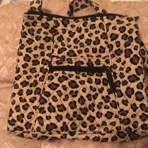 Vera Bradley leopard cross body bag